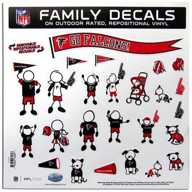 Atlanta Falcons Large Family Decal Stickers
