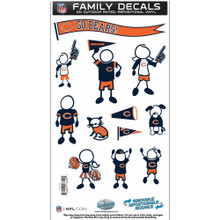 Chicago Bears Medium Family Decal Stickers FFMD005