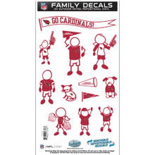 Arizona Cardinals Medium Family Decal Stickers FFMD035