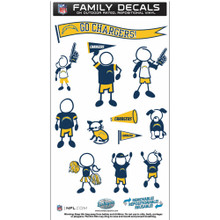 San Diego Chargers Medium Family Decal Stickers FFMD040