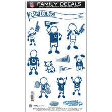 Indianapolis Colts Medium Family Decal Stickers FFMD050
