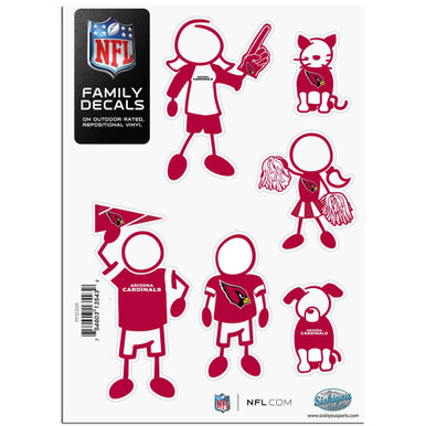 Arizona Cardinals Small Family Decal Stickers FFSD035