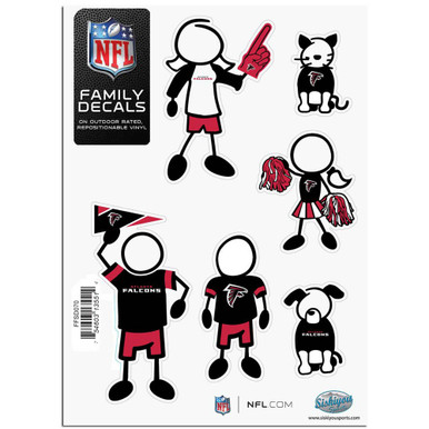 Atlanta Falcons Small Family Decal Stickers FFSD070