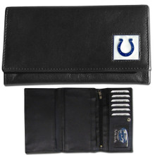 Indianapolis Colts Black Women's Leather Wallet FFW050