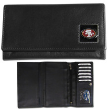 San Francisco 49ers Black Women's Leather Wallet FFW075
