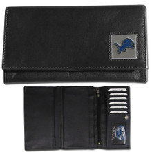 Detroit Lions Black Women's Leather Wallet FFW105