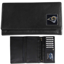 St. Louis Rams Black Women's Leather Wallet FFW130