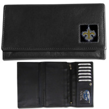 New Orleans Saints Black Women's Leather Wallet FFW150