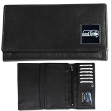 Seattle Seahawks Black Women's Leather Wallet FFW155
