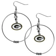 Green Bay Packers Hoop Earrings FHE115