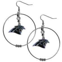 Carolina Panthers Hoop Earrings FHE170