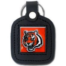 Cincinnati Bengals Square Leather Key Fob NFL Football FLK011