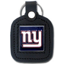New York Giants Square Leather Key Fob NFL Football FLK091