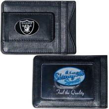 Oakland Raiders Cash & Cardholder Wallet NFL Football FLMC125