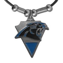 Carolina Panthers Leather Pendant Necklace NFL Football FPL171