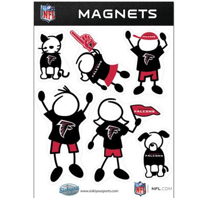 Atlanta Falcons Family Magnets NFL Football FRMF070