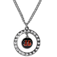 Cincinnati Bengals Rhinestone Hoop Necklace NFL Football FRN010