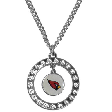 Arizona Cardinals Rhinestone Hoop Necklace NFL Football FRN035