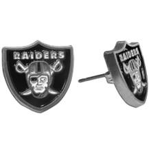 Oakland Raiders Studded Earrings NFL Football FSE125