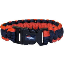 Denver Broncos Survival Bracelet NFL Football FSUB020