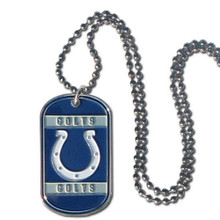 Indianapolis Colts Dog Tag Necklace NFL Football FTN050
