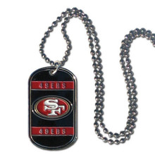 San Francisco 49ers Dog Tag Necklace NFL Football FTN075