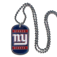 New York Giants Dog Tag Necklace NFL Football FTN090