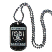 Oakland Raiders Dog Tag Necklace NFL Football FTN125