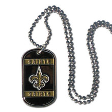 New Orleans Saints Dog Tag Necklace NFL Football FTN150