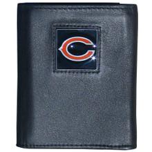 Chicago Bears Black Trifold Wallet NFL Football FTR005