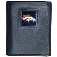Denver Broncos Black Trifold Wallet NFL Football FTR020