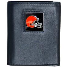 Cleveland Browns Black Trifold Wallet NFL Football FTR025