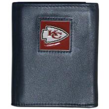 Kansas City Chiefs Black Trifold Wallet NFL Football FTR045
