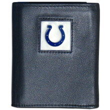Indianapolis Colts Black Trifold Wallet NFL Football FTR050