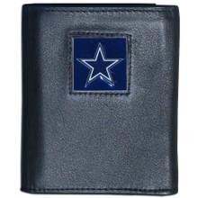 Dallas Cowboys Black Trifold Wallet NFL Football FTR055