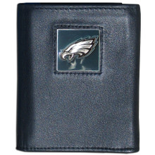 Philadelphia Eagles Black Trifold Wallet NFL Football FTR065