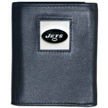 New York Jets Black Trifold Wallet NFL Football FTR100