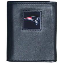 New England Patriots Black Trifold Wallet NFL Football FTR120