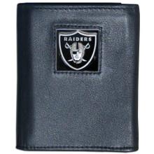Oakland Raiders Black Trifold Wallet NFL Football FTR125