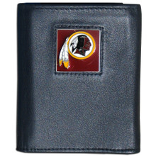 Washington Redskins Black Trifold Wallet NFL Football FTR135