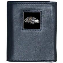 Baltimore Ravens Black Trifold Wallet NFL Football FTR180