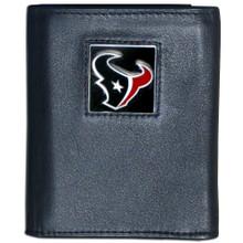 Houston Texans Black Trifold Wallet NFL Football FTR190