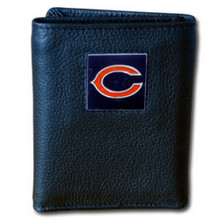 Chicago Bears Leather Trifold Wallet with Nylon Liner NFL Football FTRN005