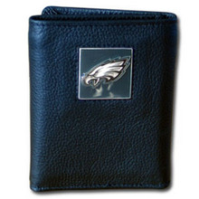 Philadelphia Eagles Leather Trifold Wallet with Nylon Liner NFL Football FTRN065