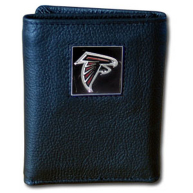 Atlanta Falcons Leather Trifold Wallet with Nylon Liner NFL Football FTRN070