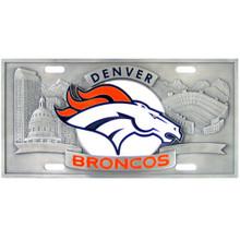 Denver Broncos 3D License Plate NFL Football FVP020
