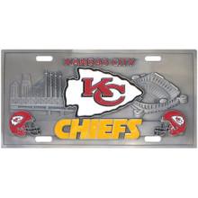 Kansas City Chiefs 3D License Plate NFL Football FVP045