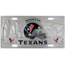 Houston Texans 3D License Plate NFL Football FVP190