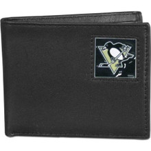 Pittsburgh Penguins Black Bifold Wallet NHL Hockey HBI100
