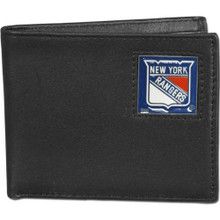 New York Rangers Black Bifold Wallet NHL Hockey HBI105